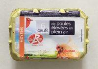 6 oeufs de poules élevées en plein air label rouge - Product - fr