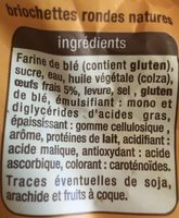 Briochettes aux oeufs frais x12 - Ingredientes - fr