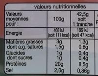Jambon Supérieur (6+3 tranches gratuites) - Nutrition facts - fr