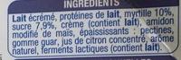 Les P'tits Creux Nature sur lit de myrtille - Ingredients - fr