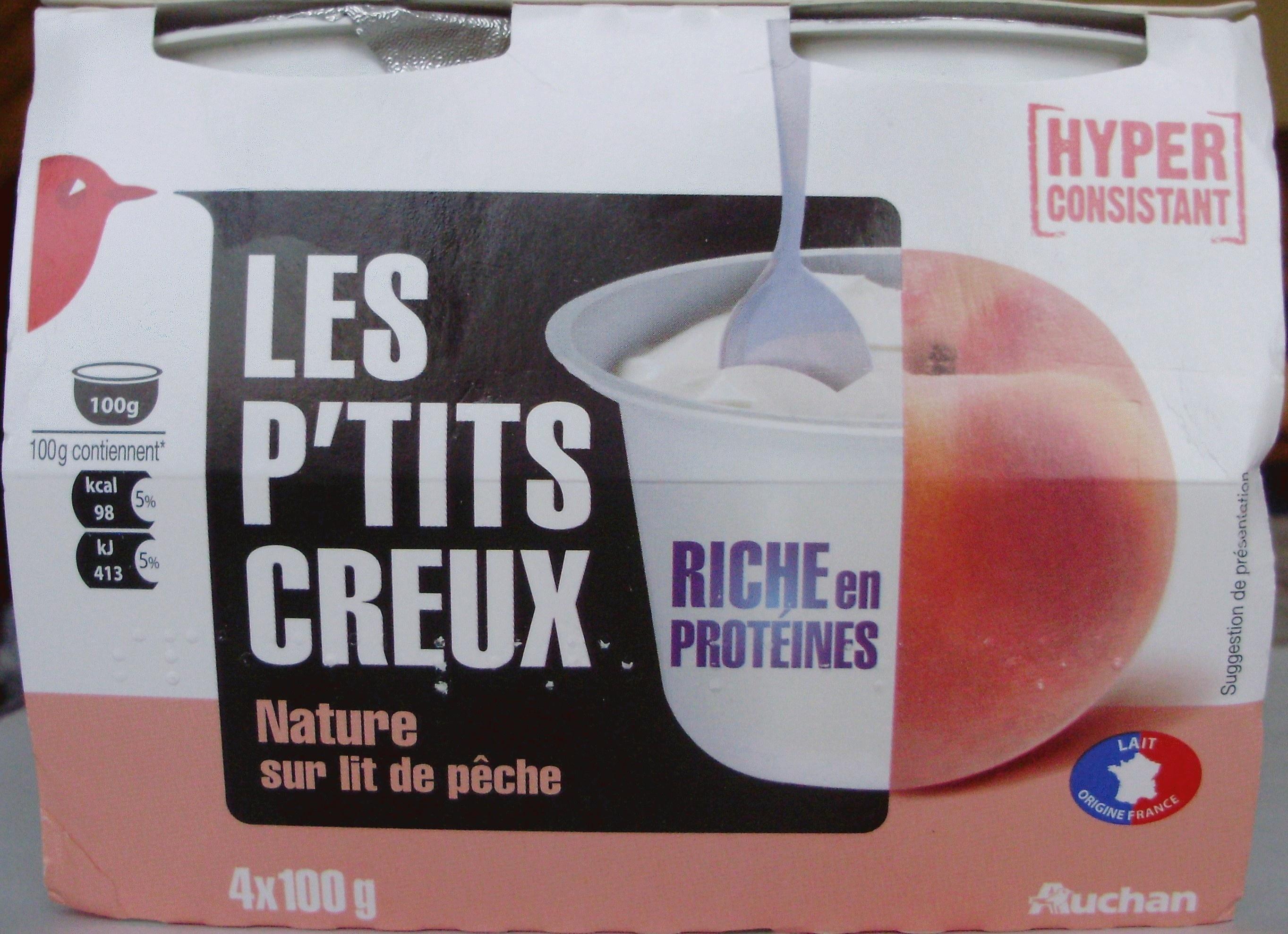 Les P'tits Creux Nature sur lit de pêche - Product - fr