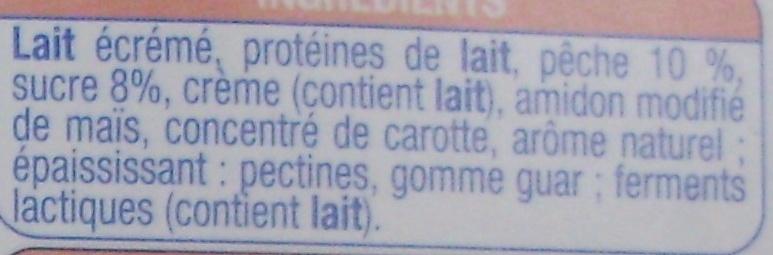 Les P'tits Creux Nature sur lit de pêche - Ingredients - fr