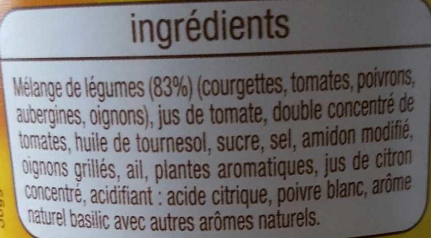 Ratatouille - Ingrédients - fr