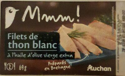 Filets de thon blanc a l'huile d'olive mmm! - Produit