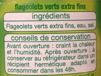 Flageolets Verts Extra Fins - Ingrédients - fr