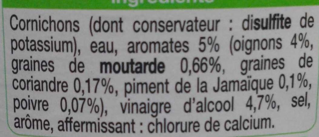 Cornichon - Ingredients - fr