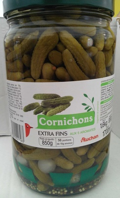 Cornichons extra fins aux 5 aromates - Product - fr