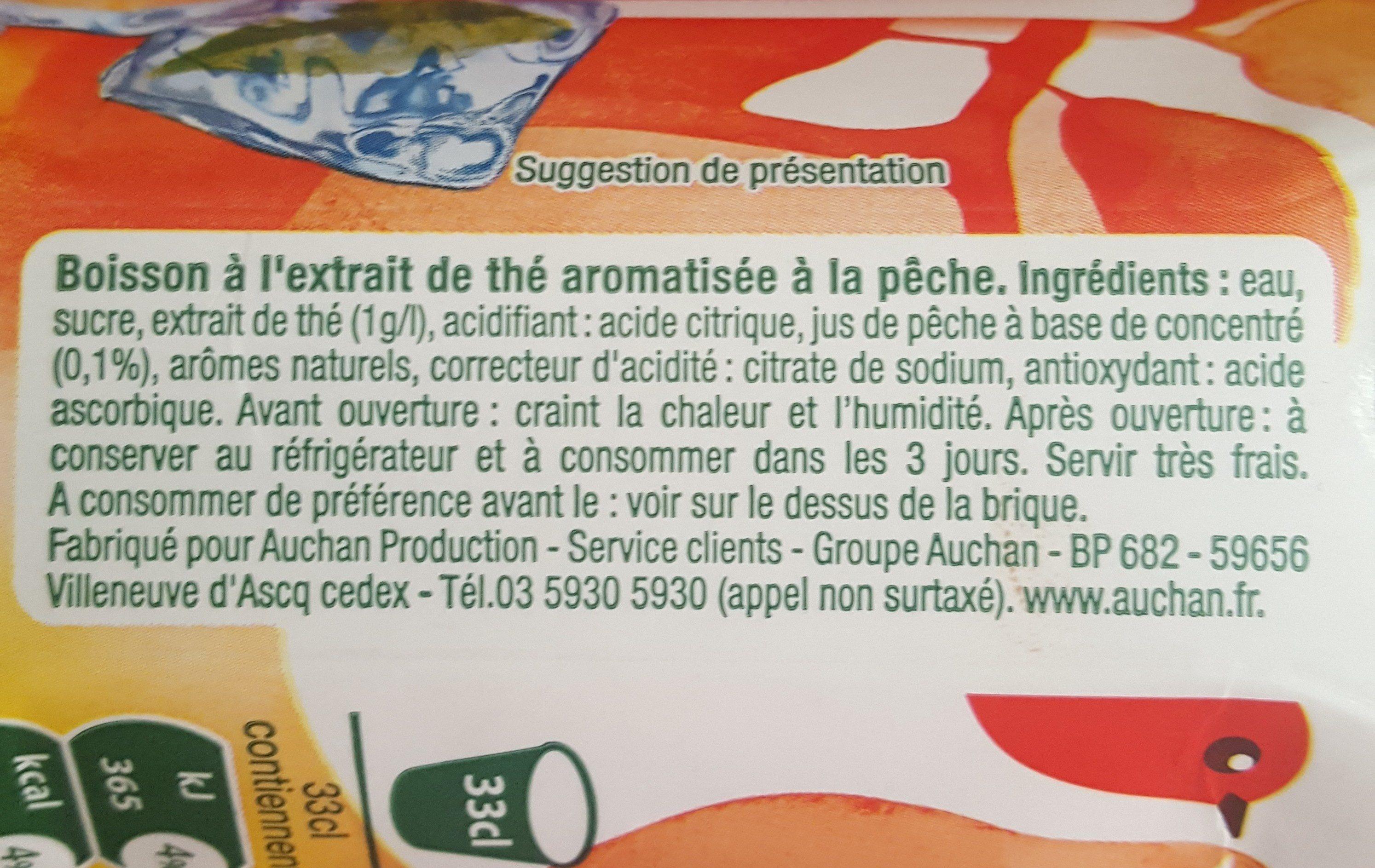 The glacé  pêche 33 cl - Ingrédients - fr