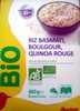 Riz Basmati, Boulgour, Quinoa Rouge - Produit