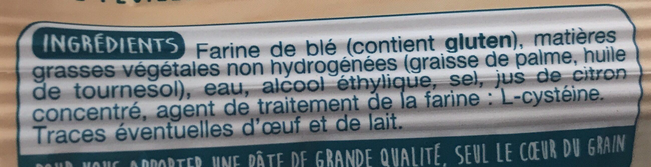 Pâte Feuilletée Rectangulaire - Ingredients