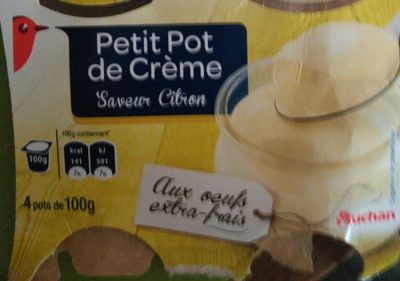 Petit Pot de Crème Saveur Citron - Produit - fr