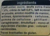 Petit Pot de Crème Saveur Citron - Ingrédients - fr