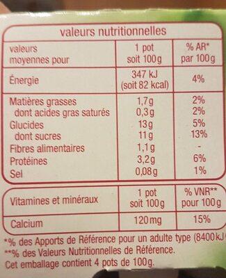 Spécialité au Soja Framboise Passion AUCHAN - Voedingswaarden - fr