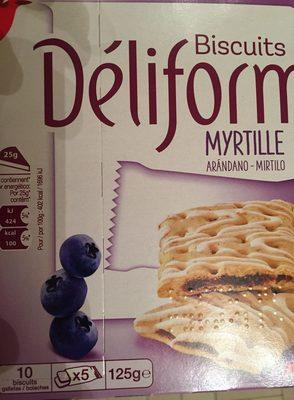 Biscuits Déliform Myrtille - Produit