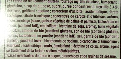 Biscuits Déliform Myrtille - Ingrédients - fr