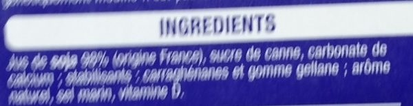 Boisson Soja - Ingredients