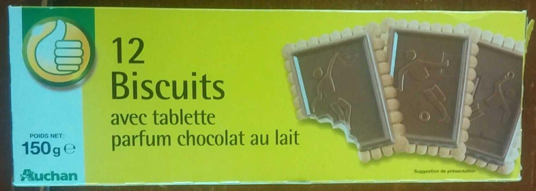 Biscuits avec Tablette Parfum Chocolat au Lait - Produit - fr