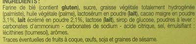 Biscuits avec Tablette Parfum Chocolat au Lait - Ingrédients - fr
