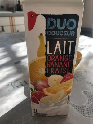 Duo Douceur Lait Orange Banane Fraise - Produit - fr