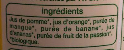 Jus Multifruits Bio - Ingrediënten - fr