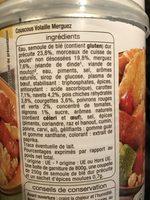 Couscous volaille/merguez - Ingrediënten