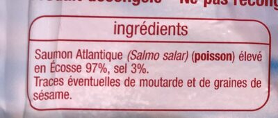 Saumon atlantique Ecosse - Ingrediënten