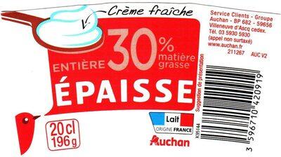 Crème Fraîche Épaisse 30% - Product - fr