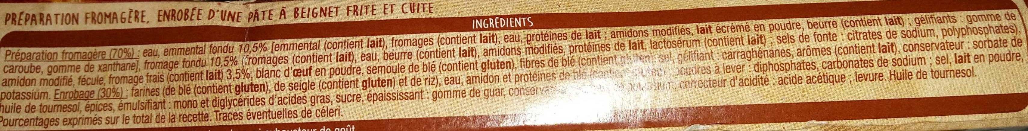 Nuggets Fromage - Inhaltsstoffe - fr