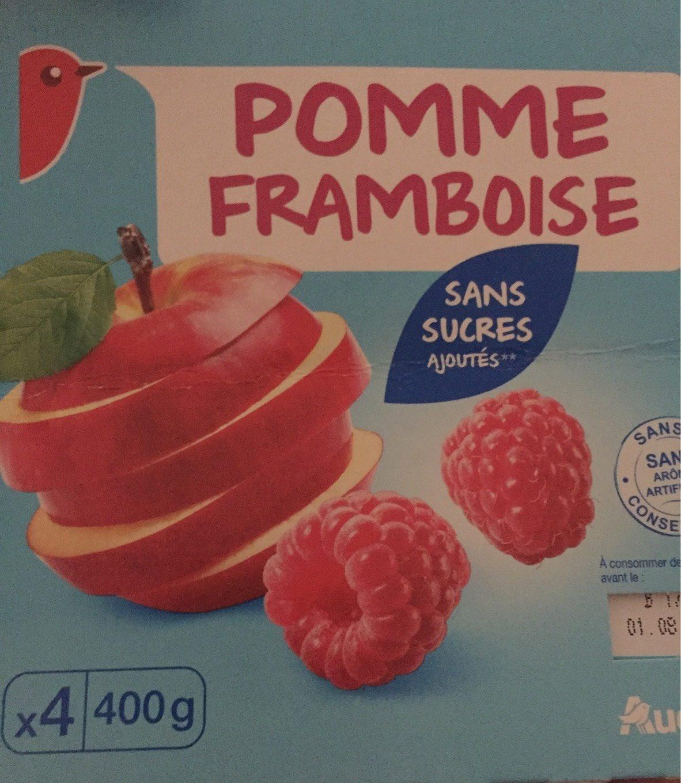 Compote pomme framboise sans sucres ajoutés - Produit