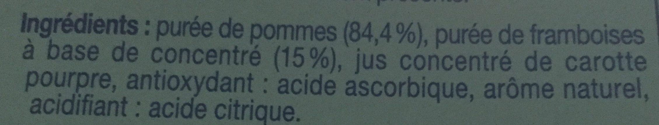 Compote pomme framboise sans sucres ajoutés - Ingrédients