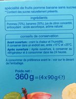 Pomme banane - Ingredients