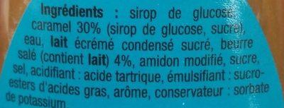 Nappage caramel au beurre salé - Ingredients