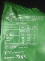 Thé à l'oriental - Informations nutritionnelles