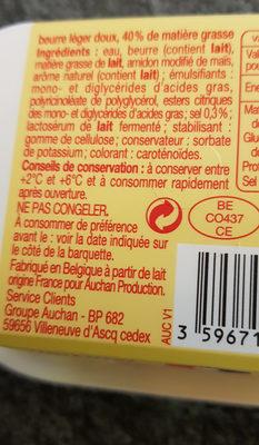 Beurre Doux Léger 40% - Informations nutritionnelles - fr
