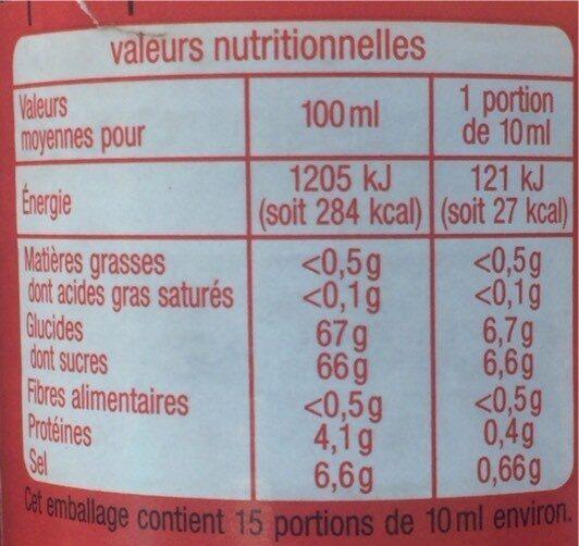 Auchan Sauce Soja Sucree      150 Ml - Nutrition facts - fr