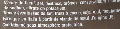 Mmm Viand Bf Sechee Alpes 70g - Ingrédients - fr