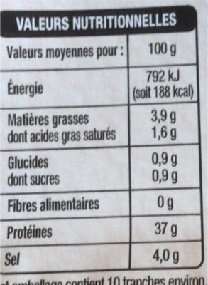 Mmm Viand Bf Sechee Alpes 70g - Informations nutritionnelles - fr