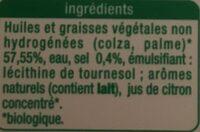 A tartiner et à cuire - Ingrediënten - fr