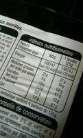 Boudin Blanc aux morilles - Informations nutritionnelles - fr