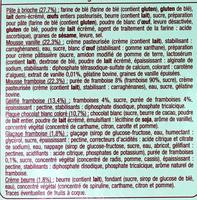 Sweet Burger Framboise - Ingredients