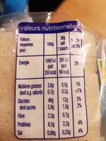 Le Carré de Mie Nature - Nutrition facts
