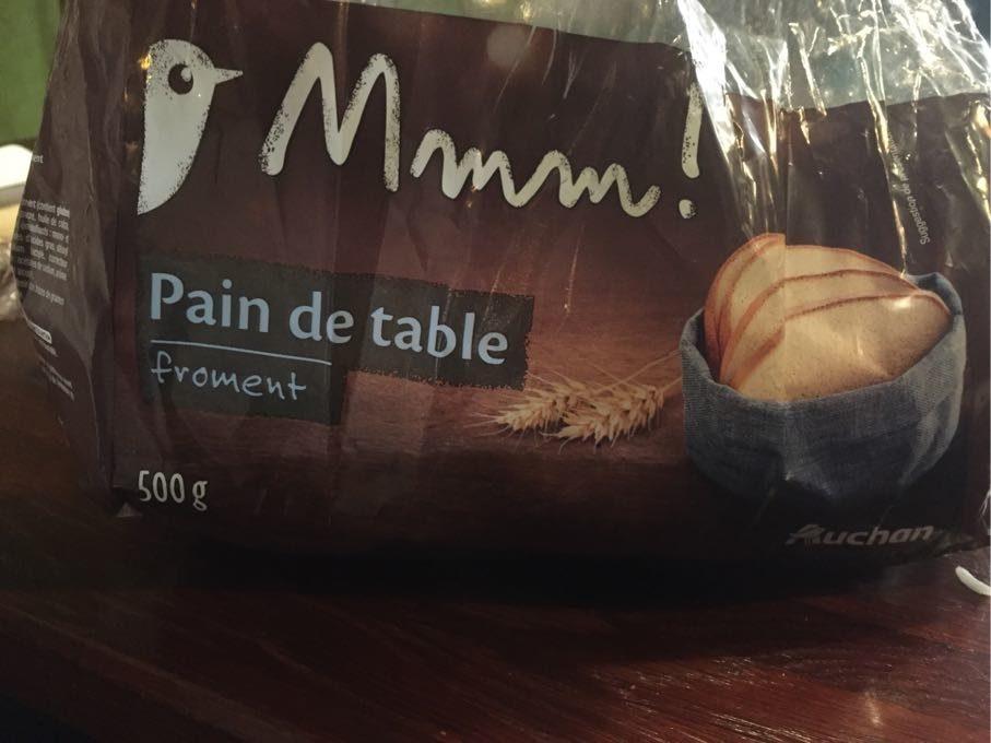 Pain De Table Au Froment Mmm 500 G