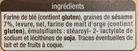 Apéri'Toasts - Sésame - Ingrédients