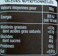 Fruits rouges fraises framboises cassis - Voedingswaarden - fr