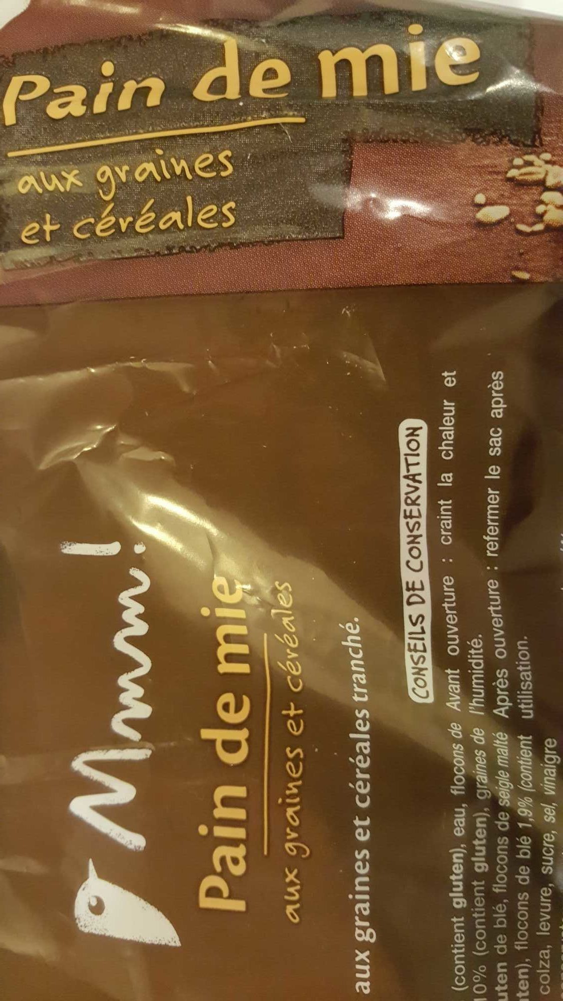 Pain de mie aux graines et aux céréales - Produit