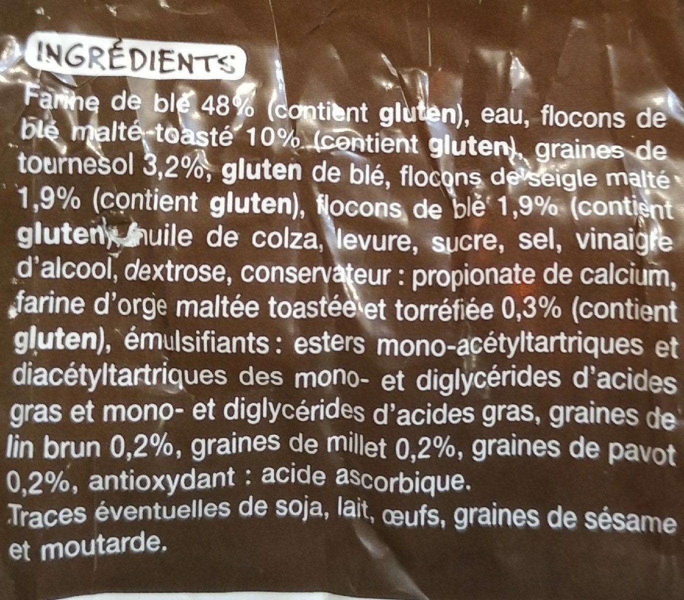 Pain de mie aux graines et aux céréales - Ingrédients