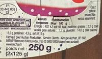 Yaourt de brebis sur lit de fruits rouges - Informations nutritionnelles - fr