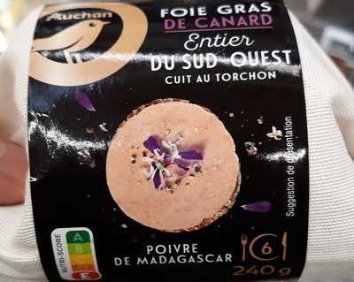 Foie gras de canard entier du Sud-Ouest cuit au torchon, poivre de Madagascar - Product - fr