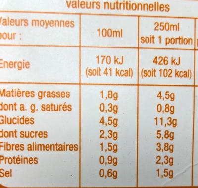 Velouté de Légumes du Soleil - Voedingswaarden