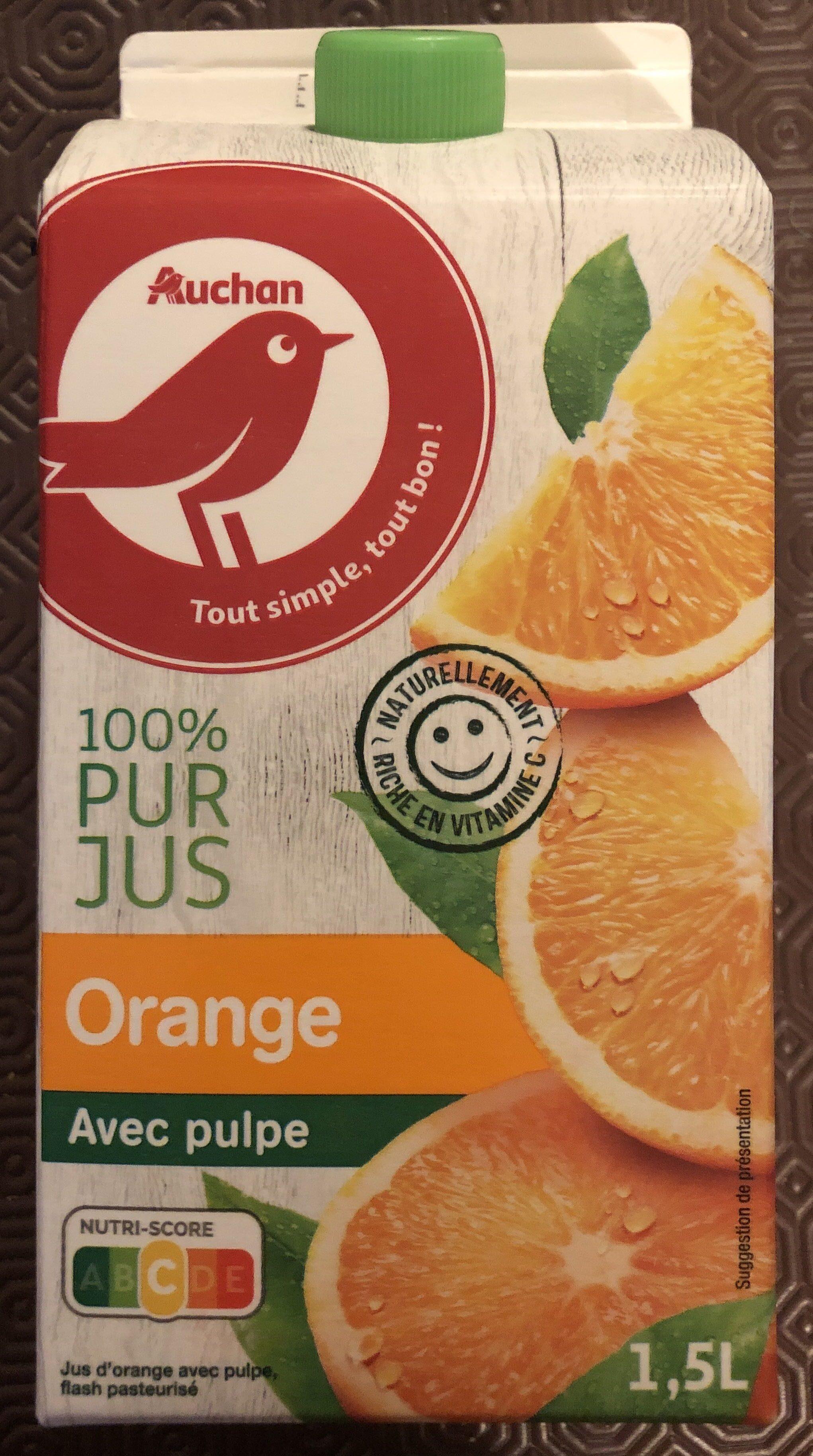 Orange pressée avec pulpe - Produit - fr